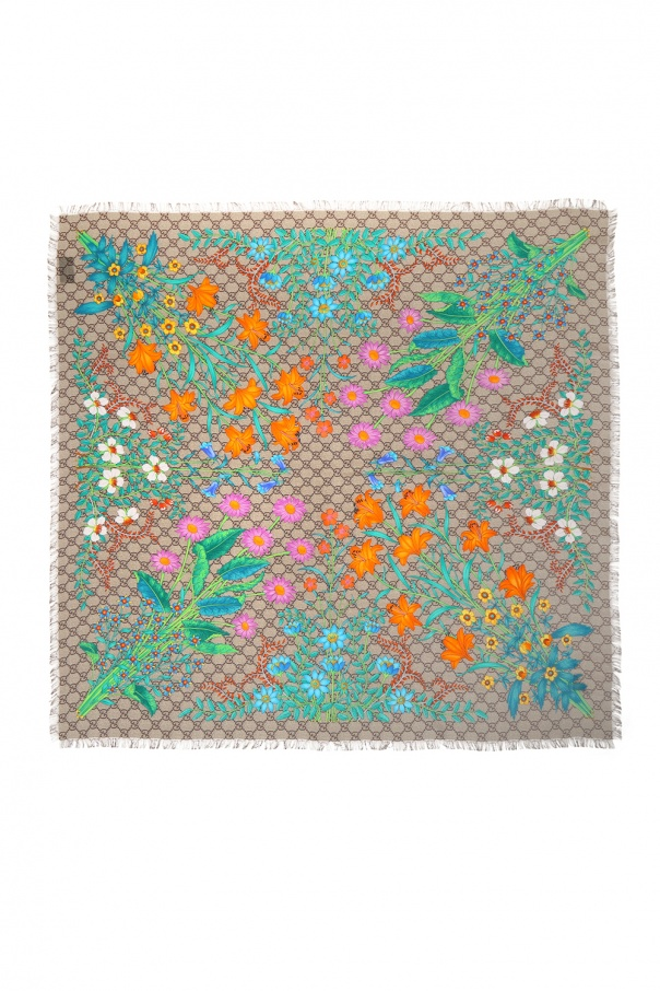 'new flora' printed shawl od Gucci
